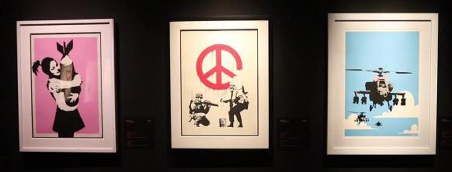 Las obras de Banksy llegan a Málaga e invitan a entrar en su mundo protesta